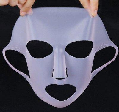 Все любимые средства для лица и волос! Экспресс! — Фиксирующая силиконовая маска — Для лица