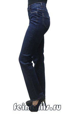 Слегка приуженные синие джинсы S71832-4004-3 рр 23(58)