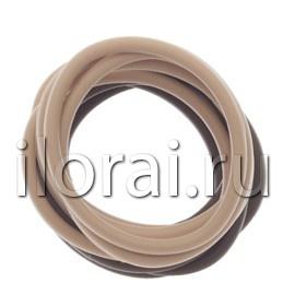 Резинки для волос силиконовые коричневые/бежевые 12 шт Dewal