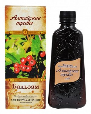 """Бальзам """"Алтайские травы №4"""" нормализующий"""