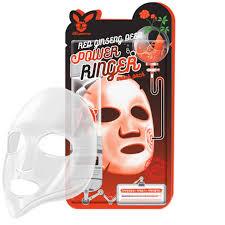 Elizavecca Red Ginseng Deep Power Ringer Mask Омолаживающая маска с экстрактом женьшеня 23мл