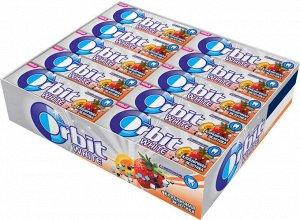 """Orbit White """"Клубничная экзотика"""" жевательная резинка без сахара, 30 пачек по 13,6 г"""