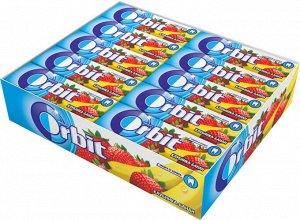 "Orbit ""Клубника-банан"" жевательная резинка без сахара, 30 пачек по 13,6 г"