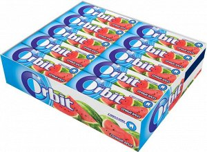 """Orbit """"Сочный арбуз"""" жевательная резинка без сахара, 30 пачек по 13,6 г"""