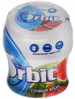 """Orbit """"Сочный арбуз"""" жевательная резинка без сахара в банке, 54,4 г"""
