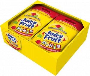 """Juicy Fruit Minis """"Фруктовый микс"""" жевательная резинка, 14 пачек по 15,9 г"""
