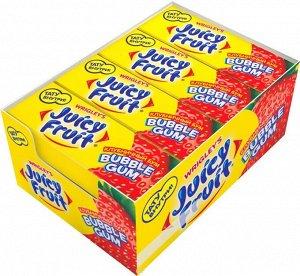 """Juicy Fruit Bubble Gum """"Клубничный бум"""" жевательная резинка, 24 пачки по 13,8 г"""