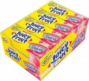 """Juicy Fruit Bubble Gum """"Реальный Баблгам"""" жевательная резинка, 24 пачки по 13,8 г"""