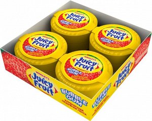 """Juicy Fruit Bubble Gum """"Клубничная надувная лента"""" жевательная резинка, 8 пачек по 30 г"""