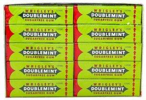 Wrigley's Doublemint жевательная резинка, 20 пачек по 13 г