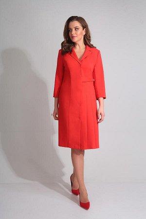 Платье Платье Golden Valley 4554  Состав ткани: Вискоза-23%; ПЭ-71%; Спандекс-6%;  Рост: 170 см.  Платье с втачным воротником и отложным лацканом пиджачного типа, центральной застежкой на пришивные к