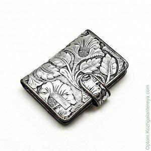 Кожаный кошелек, очень красивый, Италия (СВ), в подарочной упаковке