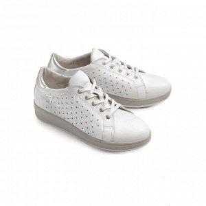 Туфли летние женские, белый кожа