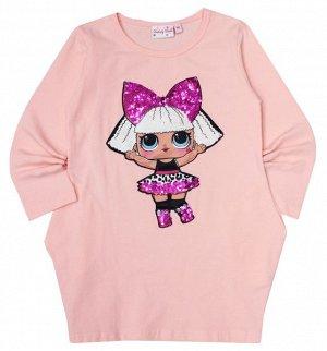 """Платье длинный рукав """"L.O.L"""" розовое"""