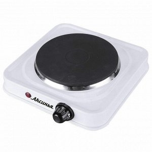 Плита электрическая 1000 Вт настольная 1-конфорочная АКСИНЬЯ КС-016 белая