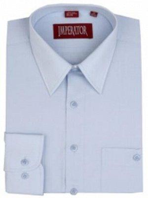 Рубашка бледноголубая