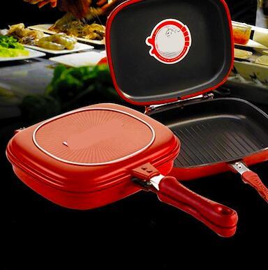 #Осенние новинки💥Набор сковородок AMERCOOK от 399 руб -5!  — НОВИНКА❣️ Двухсторонняя сковорода гриль❣️ — Сковороды
