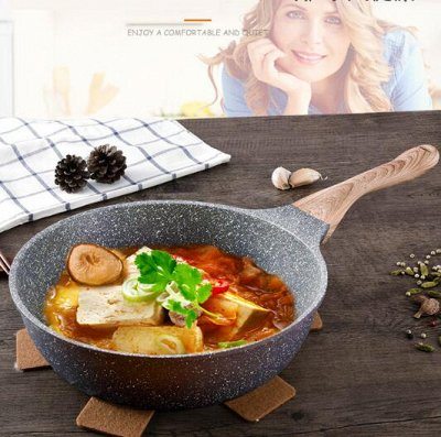 #Осенние новинки💥Набор сковородок AMERCOOK от 399 руб -5!  — Сковороды с каменный покрытием WOK❣️ — Сковороды