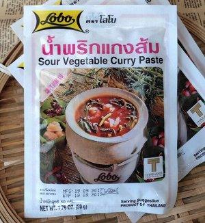Паста для карри по-тайски Lobo Sour Vegetable Curry Paste 50г