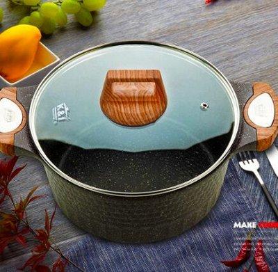 #Осенние новинки💥Набор сковородок AMERCOOK от 399 руб -5!  — Серия посуды с деревянными ручками❣️ — Казаны и сотейники