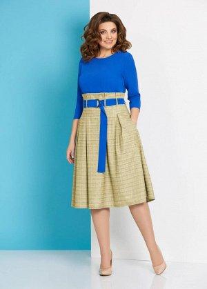 Платье Платье AGATTI 3142-1  Состав ткани: Вискоза-20%; ПЭ-78%; Спандекс-2%;  Рост: 164 см.  Стильное женское платье выполнено из костюмной ткани с добавлением вискозы. Верх платья из однотонной ткан