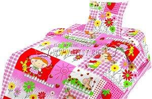 Комплект постельного белья ясельный, простынь на резинке