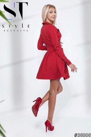 Платье Материал: Костюмка; Размер на фото: S; Параметры модели: 90-60-90; Рост модели: 173 Невероятно красивое стильное платье мини с длинным рукавом – станет настоящим украшением образа на дружеской