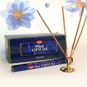 Благовония HEM sq Flora Opium Masala опиум уп - 25шт натуральная серия