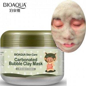 Пузырьковая маска для лица Bioaqua Carbonated Bubble Clay Mask 100 гр