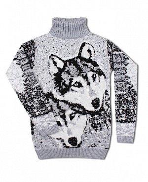 Вязаный свитер, серый Цвет: св.серый