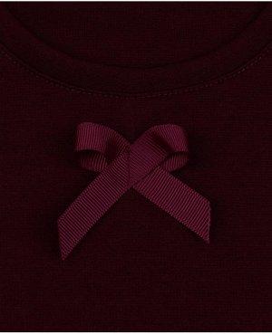 Бордовый школьный сарафан для девочки Цвет: бордо