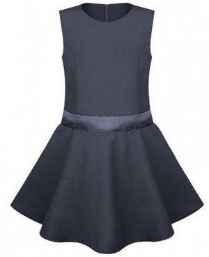 Школьный серый сарафан для девочки Цвет: серый