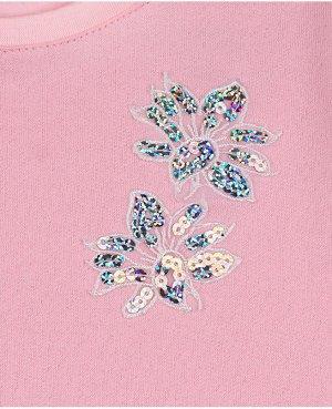Розовый джемпер для девочки Цвет: розовый