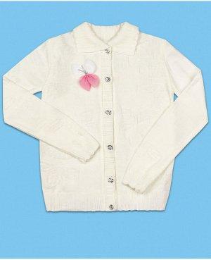 Кофта вязаная для девочки Цвет: молочный