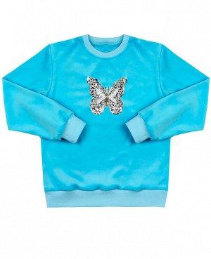 Голубой джемпер для девочки Цвет: голубой
