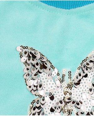 Бирюзовый джемпер для девочки Цвет: ментоловый