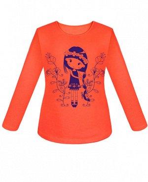 Оранжевый джемпер для девочек Цвет: оранжевый