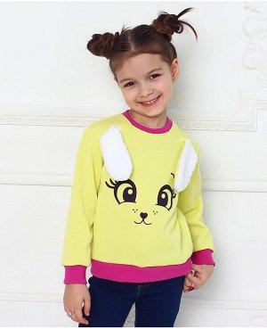 Жёлтый джемпер для девочки Цвет: жёлтый