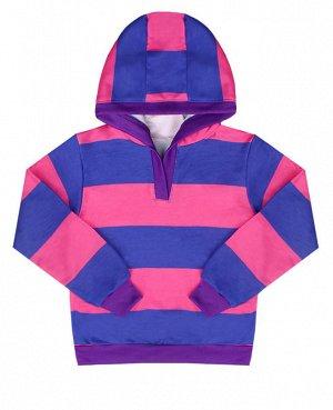 Джемпер для девочки в полоску Цвет: роз.+фиолет