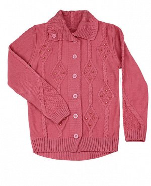 Кардиган вязаный для девочки Цвет: розовый