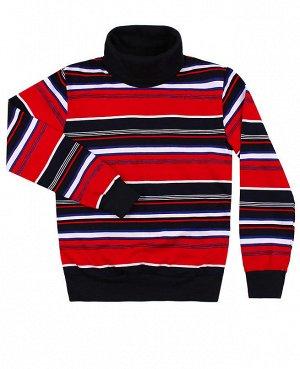 Джемпер для мальчика в полоску Цвет: красный