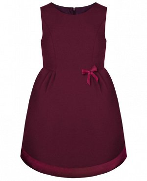 Школьный бордовый сарафан для девочки Цвет: бордо