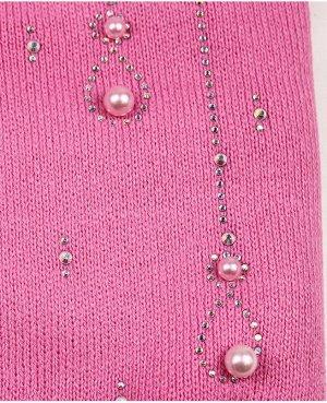 Шапка на подкладе для девочки Цвет: розовый