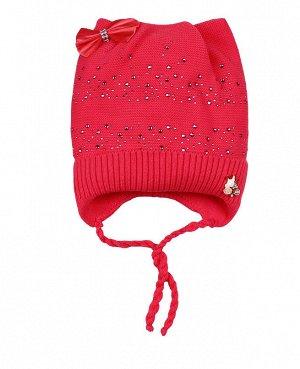 Малиновая шапка для девочки Цвет: малиновый
