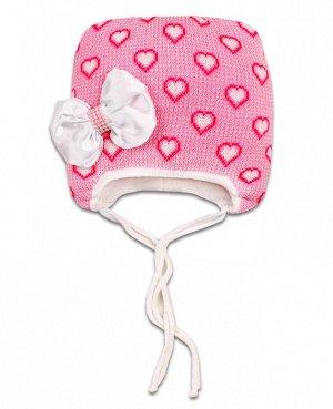 Шапка зимняя для девочки Цвет: яр.розовый
