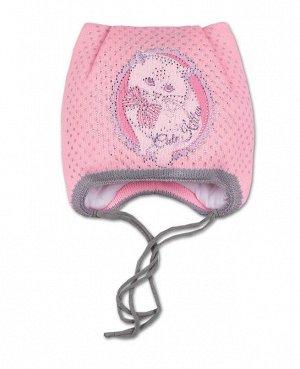 Шапка для девочки на синтепоне Цвет: розовый