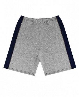 Шорты серые для мальчика Цвет: серый+синий