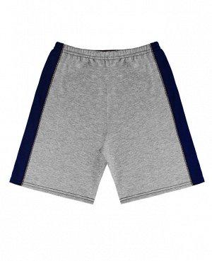Серые шорты для мальчика Цвет: серый+синий