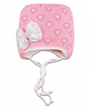 Шапка зимняя для девочки Цвет: бл.розовый