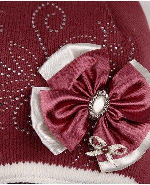 Шапка для девочки на синтепоне Цвет: коричневый